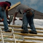Foil Installed Under Roof Using Battens To Create Air Space