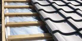 Radiant Barrier Under Tiles with Required Air Space