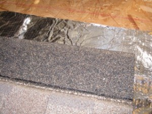 Foil Under Shingles Will Not Work Unless There Is An Airspace On One Side Of The Foil.