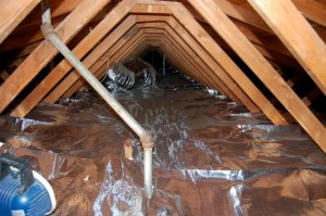Properly installed radiant barrier foil