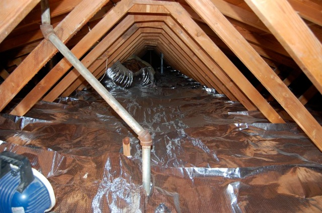 Properly installed radiant barrier foil & How to use Radiant Barrier to offset