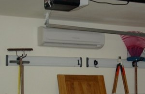 Indoor portion of a ductless mini-split system