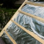 Foil Installed Before Metal Shingles With Air Space