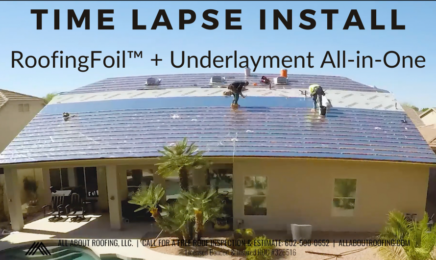 RoofingFoil Radiant Barrier + Underlayment: Time-Lapse Install Video